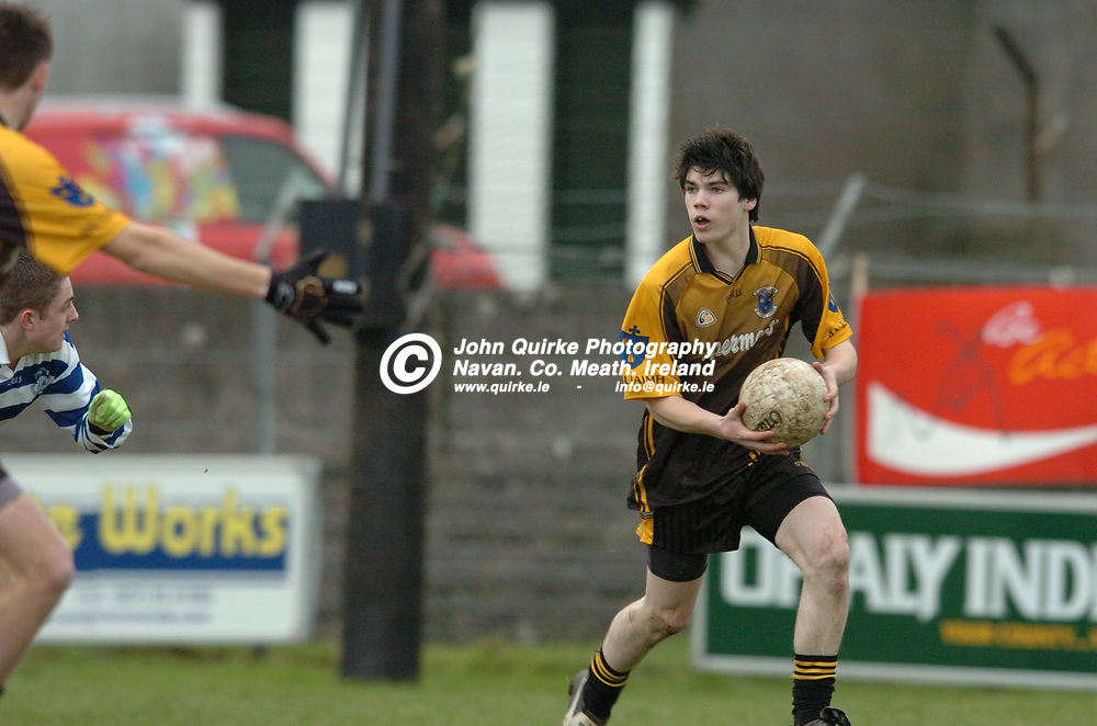 """10-03-07. St. Patrick's Classical School, Navan v Knockbeg College, Carlow - Leinster Colleges SFC """"A"""" final at Tullamore.<br /> Colm O'Reilly, St. Pat's.<br /> Photo: John Quirke.<br /> ©John Quirke Photography, Unit 17, Blackcastle Shopping Cte.<br /> Navan. Co. Meath. 046-9079044 / 087-2579454."""