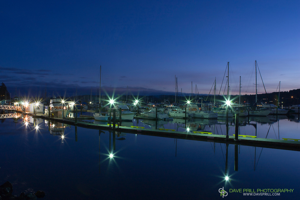 Poulsbo Marina at duck with starburst effect.