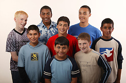 Group of teenage boys,
