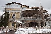 Moscow, Russia, 27/03/2012..Exterior of the Georgian Tinatin restaurant.