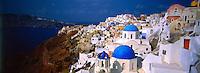 Village of Oia, island of Santorini, the Cyclades, Greece