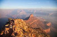 Hiking the South Kaibab Trail. Grand Canyon National Park, AZ.