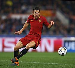 March 13, 2018 - Rome, Italy - AS Roma v FC Shakhtar Donetsk : UEFA Champions League Round of 16 Second leg..Kevin Strootman of Roma at Olimpico Stadium in Rome, Italy on March 13, 2018. (Credit Image: © Matteo Ciambelli/NurPhoto via ZUMA Press)