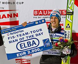 05.02.2011, Heini Klopfer Skiflugschanze, Oberstdorf, GER, FIS World Cup, Ski Jumping, Finale, im Bild Gregor Schlierenzauer (AUT) MAN OF THE DAY, during ski jump at the ski jumping world cup in Oberstdorf, Germany on 05/02/2011, EXPA Pictures © 2011, PhotoCredit: EXPA/ P. Rinderer