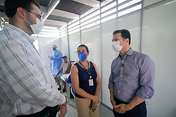 Porto Alegre, RS - 30/03/2020: Prefeito Nelson Marchezan Júnior visita estrutura utilizada para atendimentos de casos de suspeita de Coronavírus.  Local: UPA Bom Jesus. Foto: Jefferson Bernardes/PMPA