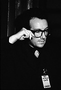 Elvis Costello in the late 1980's.<br /> <br /> © Adrian Boot / Retna Ltd<br /> Credit all Uses