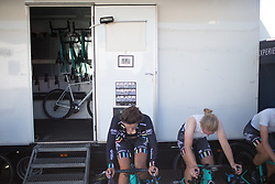 Drops Cycling Team riders warm up for the Crescent Vargarda - a 42.5 km team time trial, starting and finishing in Vargarda on August 11, 2017, in Vastra Gotaland, Sweden. (Photo by Balint Hamvas/Velofocus.com)