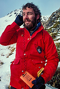 Kevin Boekholt, New Zealand mountain and heli-ski guide, August 1985, Arthur's Pass avalanche course.