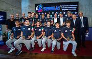 Mazionale Italiana Under 17<br /> Presentazione Campionato Italiano Pallanuoto 2019-2020<br /> Federazione Italiana Nuoto FIN<br /> Foro Italico Sala conferenze 03/10/2019<br /> Photo © Deepbluemedia