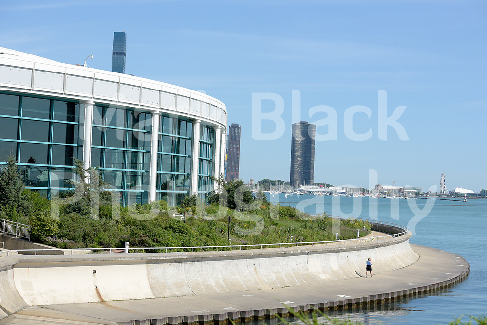 The Shedd Aquarium on the museum campus along the lakefront in Chicago, Illinois.<br /> Photo by Mark Black