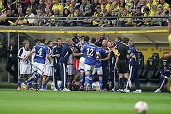 20.10.2012, Signal Iduna Park, Dortmund, GER, 1. FBL, Borussia Dortmund vs Schalke 04, 8. Runde, im Bild Jubel nach dem Tor zum 0:1 durch Ibrahim Afellay (FC Schalke 04), Freisteller // during the German Bundesliga 8th round match between Borussia Dortmund and Schalke 04 at the Signal Iduna Park, Dortmund, Germany on 2012/10/20. EXPA Pictures © 2012, PhotoCredit: EXPA/ Eibner/ Oliver Vogler..***** ATTENTION - OUT OF GER *****