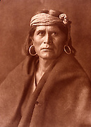 NATIVE AMERICANS E. Curtis photograph, early 20th century, A Walpi Man (Hopi)