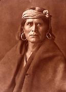 NATIVE AMERICANS E. Curtis photograph, early 20th century, A Walpi Man (Hopi)