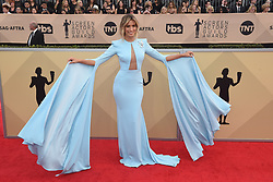 January 20, 2018 - Los Angeles, California, U.S. - RENEE BARGH during red carpet arrivals for the 24th Annual Screen Actors Guild Awards, held at The Shrine Expo Hall. (Credit Image: © Kevin Sullivan via ZUMA Wire)