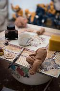 Headless clay figurine in Bat Trang ceramic village, Hanoi outskirts, Vietnam, Southeast Asia