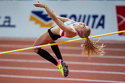 Ivona Dadic of Austria competes in the Pentathlon High Jump Women on day one of the 2017 European Athletics Indoor Championships at the Kombank Arena on March 3, 2017 in Belgrade, Serbia. Photo by Vid Ponikvar / Sportida