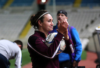 Fifa Womans World Cup Canada 2015 - Preview //<br /> Cyprus Cup 2015 Tournament ( Gsp Stadium Nicosia - Cyprus ) - <br /> Australia vs England 0-3   // Jodie Taylor of England , Scored 3 Goals celebrates after the match for the victory