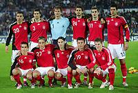Fotball<br /> EM-kvalifisering<br /> Slovakia v Tyskland 1-4<br /> 11.10.2006<br /> Foto: Witters/Digitalsport<br /> NORWAY ONLY<br /> <br /> Team Deutschland<br /> v.l. hinten: Lukas Podolski, Arne Friedrich, Torwart Jens Lehmann, Manuel Friedrich, Miroslav Klose, Michael Ballack<br /> v.l. vorne: Philipp Lahm, Clemens Fritz, Torsten Frings, Bernd Schneider, Bastian Schweinsteiger<br /> EM-Qualifikation Slowakei - Deutschland 1:4