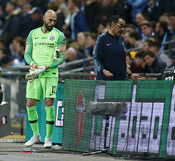 February 24, 2019 - London, England, United Kingdom - Chelsea's Willy Caballero.during during Carabao Cup Final between Chelsea and Manchester City at Wembley stadium , London, England on 24 Feb 2019. (Credit Image: © Action Foto Sport/NurPhoto via ZUMA Press)