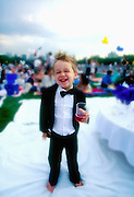 Boy at NY Philharmonic Concert  Central Park  New York, NY