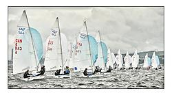 470 Class European Championships Largs - Day 6]..Men's Fleet Downwind..