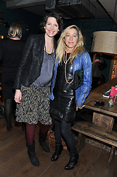 Left to right, THOMASINA MIERS and MAIA NORMAN at a ladies lunch hosted by Thomasina Miers at her restaurant Wahaca, 19-23 Charlotte Street, London W1 on 17th January 2013.