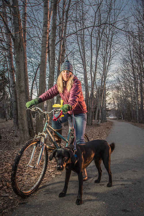 Allison Phillips with her dog, Trig, on the Tony Knowles Coastal Trail near Westchester Lagoon, Anchorage  allison.phillips88@gmail.com