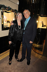SCHLOMO &  ALIZA MOUSSAIEFF at a party to celebrate the launch of a collection of jewellery by Tamara Ecclestoen for jewellers Moussaieff held at their store in New Bond Street, London on 9th December 2008.