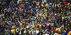 Cape Town-180825- Mamelodi Sundowns fans after sing even after losing 1-0 to Cape Town City in the MTN 8 semi-final at Cape Town Stadum.Photographer :Phando Jikelo/African News Agency/ANA