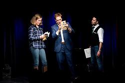 "21.11.2016, Schubert Theater, Wien, AUT, Zaubershow, Die Ehrlichen Betrüger - Catch Us If You Can, im Bild v.l. ein Gast, Paul Sommersguter, Philipp Tawfik // during the magic show ""Die Ehrlichen Betrüger - Catch Us If You Can"" at the Schubert Theater, Vienna, Austria on 2016/11/21, EXPA Pictures © 2016, PhotoCredit: EXPA/ Sebastian Pucher"