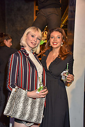 Left to right, Ivy Mae and Emily Warburton-Adams at a VIP private view of 21st Century Women held at Unit London, Hanover Square, London England. 03 October 2018.