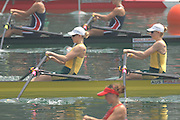 Beijing, CHINA, AUS, JW2X, bow, Brittany MANN and Alana MONSON, during the  2007. FISA Junior World Rowing Championships Shunyi Water Sports Complex. Wed. 08.08.2007  [Photo, Peter Spurrier/Intersport-images]..... , Rowing Course, Shun Yi Water Complex, Beijing, CHINA,