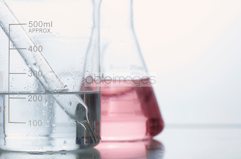Volumetric Flask with Pipette and Erlenmeyer flask