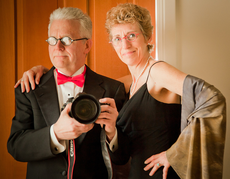 Clark and Mitzi Mishler get ready to head out to the Anchorage Museum Gala