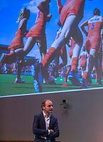 UTRECHT -  KNHB voorzitter Erik Cornelissen. .   Het KNHB Nationaal Hockey Congres 2020, Samen werken aan de   toekomst. COPYRIGHT  KOEN SUYK