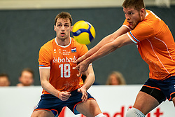 Robbert Andringa #18 of Netherlands, Thijs Ter Horst #4 of Netherlands in action during the Olaf Ratterman Memorial match between Netherlands vs. Eredivisie All Star team on May 03, 2021 in Barneveld.