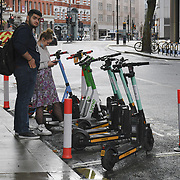 Scooter for hire at St James area, London, UK