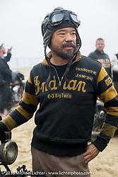 Shinya Kimura at TROG West - The Race of Gentlemen. Pismo Beach, CA, USA. Saturday October 15, 2016. Photography ©2016 Michael Lichter.