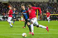 Manchester United forward Odion Ighalo (25) on the ball during the Europa League match between Club Brugge and Manchester United at Jan Breydel Stadion, Brugge, Belguim on 20 February 2020.