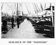 USS HARTFORD from the book ' The Civil war through the camera ' hundreds of vivid photographs actually taken in Civil war times, sixteen reproductions in color of famous war paintings. The new text history by Henry W. Elson. A. complete illustrated history of the Civil war