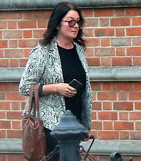 Joanna Thornton Arriving at Newport Crown Court
