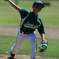 (Photograph by Bill Gerth for SVCN) Los Gatos vs Saratoga in a 9 year old all stars in a District 12 tournament game at Lincoln Glen Little League Field, San Jose CA on 7/9/16.