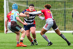 Jay Burley of Bristol Academy U18 is tackled by Femi Sofolarin of Harlequins Academy U18 - Mandatory by-line: Craig Thomas/JMP - 03/02/2018 - RUGBY - SGS Wise Campus - Bristol, England - Bristol U18 v Harlequins U18 - Premiership U18 League