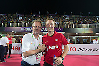 BHUBANESWAR (India) -  Hero Champions Trophy hockey men. Final : Germany and Pakistan.  Umpire Coen van Bunge with umpires officer, Philip Schellekens .   Photo KOEN SUYK