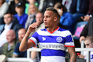 Queens Park Rangers midfielder Tjaronn Chery (10) takes a corner during the EFL Sky Bet Championship match between Queens Park Rangers and Reading at the Loftus Road Stadium, London, England on 15 October 2016. Photo by Jon Bromley.