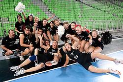 Cheerleaders  during handball match between RK Krim Mercator (SLO) and RK Podravka Vegeta (CRO) in Women's EHF Champions League, on November 13, 2010 in Arena Stozice, Ljubljana, Slovenia. Krim defeated Podravka 26:22 and qualified to Main Round of Champions League. (Photo By Vid Ponikvar / Sportida.com)