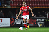 Kyle Knoyle (24) of Swindon Town during the EFL Sky Bet League 2 match between Swindon Town and Yeovil Town at the County Ground, Swindon, England on 10 April 2018. Picture by Graham Hunt.