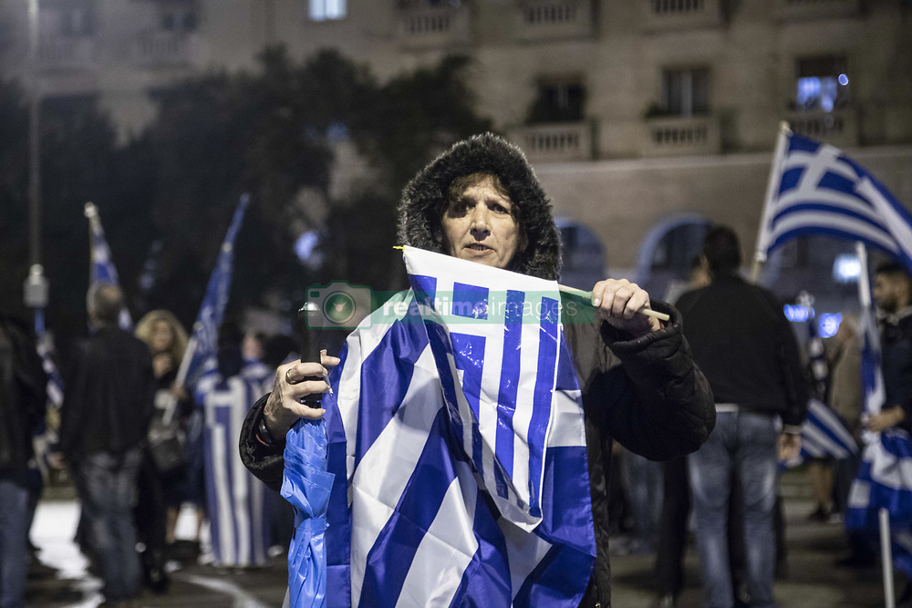 September 30, 2018 - Thessaloniki, Greece - Protest against FYROM (Macedonia) name change takes place in Thessaloniki city, capital of Macedonia province in Greece as same time people in FYROM (Macedonia) head to the polls to vote for the referendum on their country's name change to Northern Macedonia after having a deal with Greece. The officially name of this Balkan state will change from FYROM, Former Yugoslav Republic Of Macedonia to the Republic of North Macedonia, bearing a similar name to a region in Greece. Greece asked for constitutional change and clearing territorial expansionist ambitions in exchange of the name recognition and an invitation for EU and NATO. Protesters happily ended the protest with the first exit polls, showing abstention of the polls greater than 50%, fact that the referendum can not be valid. Sunday 30 September 2018 - Thessaloniki, Greece  (Credit Image: © Nicolas Economou/NurPhoto/ZUMA Press)