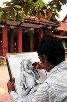 Founded in 1918, the Royal School of Arts became the Royal University of Fine Arts in 1965. Classes were offered in numberous disciplines including archaeology, architecture, interior design, painting and sculpture as well as choreographic arts, fine arts and music. Due to the Khmer Rouge regime the university was forced to close from 1975 to 1979. The institution reopend in May 1980. Today, the Royal University of Fine Arts is Cambodia's primary centre of education and research in arts and culture. Its main objective is to train a young generation of artists, architects, and archaeologists capable of active participation in the preservation and development of the various forms and expressions of Khmer culture.