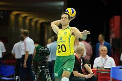 07.09.2014, Spodek, Katowice, POL, FIVB WM, Brasilien vs Kuba, Gruppe B, im Bild Vieira De Oliveira Raphael // during the FIVB Volleyball Men's World Championships Pool B Match beween Brazil vs Cuba at the Spodek in Katowice, Poland on 2014/09/07. EXPA Pictures © 2014, PhotoCredit: EXPA/ Newspix/ Karol Baik<br /> <br /> *****ATTENTION - for AUT, SLO, CRO, SRB, BIH, MAZ, TUR, SUI, SWE only*****